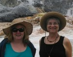 Myra and Cynthia Camilleri in Yellowstone National Park
